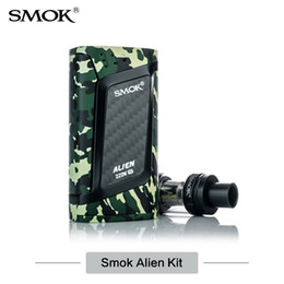 Wholesale Smok Kits - Authentic SMOK Alien Starter Kit with 3ml TFV8 Baby atomizer 220W ALIEN 220 box mod V8 Baby Q2 T8 Coil 0.4ohm 0.15ohm Elektronik Sigara kit