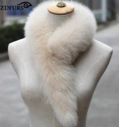 Wholesale Genuine Fur Collars - FXFURS 2017 Genuine Fox Fur Scarf 100% Real Fox Fur Collar Ring Muffler Women Stole Neck Warmer 14 Colors
