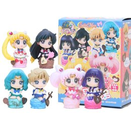 Sailor Moon 6 pcs / ensemble Glace Fête Action Figure Kaiou Michiru Chibi Usa Sailor Saturn Poupée PVC figure Brinquedos Anime 5-8 CM ? partir de fabricateur