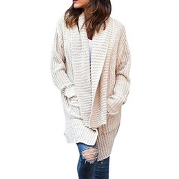 a72ccf1dd1 Fall 2018 Knitting Sweater Long Cardigan Long Sleeve Loose Knitted Jumper  Women Plus Size Clothing Winter Tops Warm Coat H6