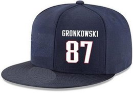 839cf5f1ff2 Snapback Hats Custom any Player Name Number  87 Gronkowski Patriots hats  Customized ALL Team caps Accept Made Flat Embroidery Logo Name
