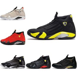 Wholesale Cheap Size 14 Basketball Shoes - Top Designer 14 Basketball Shoes 2018 Men Trainers Sneaker Desert Sand DMP Black Red Thunder The Last Shot Cheap Sport Sneakers size 8-13