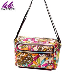 Wholesale Satchel Hobo Bags - Women Messenger Bags Print Floral Cross Body Shoulder Canvas Hobo Bag Nylon Oxford Fabric Women's Handbag Bolsas Femininas