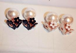 Горячие корейские милые моды нежные цветы двухсторонняя спираль S925 серебряные серьги жемчуг дикий от Поставщики цветок двусторонний серьги