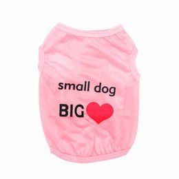 Wholesale Green Products Wholesale - New Arrival Spring Summer Pet Product Puppy Cat Clothes Vests Small Dog Big Love Dog Clothing T-shirt Apperal for Puppy 4 Colors
