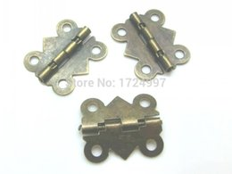 Wholesale Wholesale Door Hinge - 50pcs Door Butt Hinges(rotated from 90 degrees to 210 degrees) Antique Bronze 4 Holes 20mm x 17mm, J1251