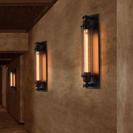Assiette rustique en Ligne-T300 Edison Applique Murale Flûte Industrielle Rétro Rustique Fer Applique Plaque Lampe