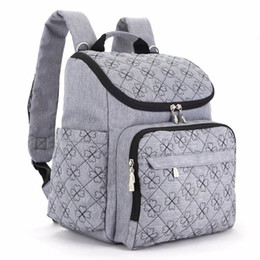 Wholesale Red Baby Diaper Bags - Diaper Bag Fashion Mummy Maternity Nappy Bag Brand Baby Travel Backpack Diaper Organizer Nursing For Baby Stroller