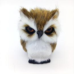 Decorações home dos animais artificiais on-line-Animal artificial 10x5 cm Coruja Brinquedo De Pelúcia Modelo de Polietileno Mobiliário Doméstico Decoração de Presente de Natal Para O Bebê