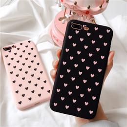 Iphone couverture en silicone points en Ligne-Love Dots Cas de téléphone pour iPhone X 8 7 6 6 s Plus Wave Point Cas en TPU souple pour iPhone X Plus Couverture arrière