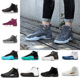 Wholesale grand games - 12 XII basketball shoes white Flu Game og GRAND wolf grey Gym red taxi wool gamma blue master outdoor sports man sneaker