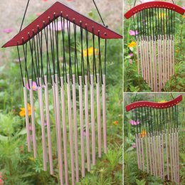 outdoor chimes Coupons - bell bell 15 Tubes Wind Chimes Bells Outdoor Yard Garden Metal Windchimes Wall Hanging Decoration Mascot Landscape Metal Yard Art