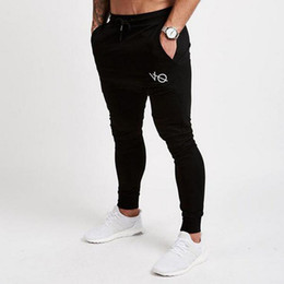 Wholesale print pants men - IGGY 2017 Autumn Winter New Gyms Pants Men Joggers Casual Pants Brand Trousers Sporting Bodybuilding Sweatpants joggers 4Color