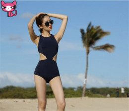 2019 biquíni unido Parte traseira aberta Bikini Cut Out Bikini Conjoined Cover A barriga Swimwear Mulheres Reunidas Em um biquíni Sexy Skinny Hot Spring Beach Swimsui desconto biquíni unido