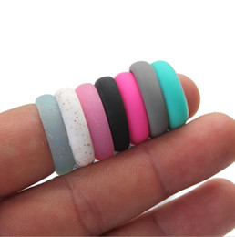 Wholesale female engagement rings - Fashion Trendy Popular 5 6 7 8 9 Size Environmental silicone Female Ring For Women Girls Office Lady Finger Jewelry
