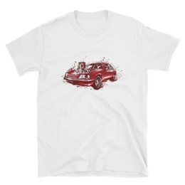 Sweatshirt in rot mit einem Hot Rod-,US Car /& `50 Stylemotiv Modell The Outlaw