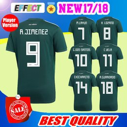 Wholesale Quality Player - Top quality Mexico 2018 World Cup Player Version Soccer jersey Chicharito LOZANO LAYUN football shirt 18 19 Mexico size S--XL green jerseys