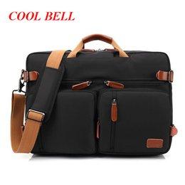 Wholesale Notebook Body - Cool Bell Men's Travel Bag 17.3 inch Notebook Bag Shoulder Messenger Laptop Case Handbag Business Briefcase Rucksack M633