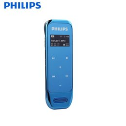 Wholesale Oled Display Color - Wholesale-PHILIPS Voice Recorder 8GB Sensor Touch Buttons Spy Pen up to 2160 hours audio recording OLED Display Black Blue White color