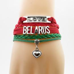 2019 land flaggen armbänder Unendlichkeit Liebe Belarus Armband Herz Charm Armband Belarus Land Flagge Armbänder Armreifen für Frau und Mann Armbänder rabatt land flaggen armbänder