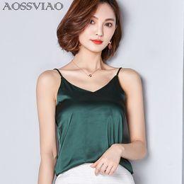 Wholesale White Silk Blouse Xs - New Summer Autumn style Imitation silk women Blouse Shirt Sexy White Red Gray Black Tops Party Girls Blusas Shirts 2018 Fashion