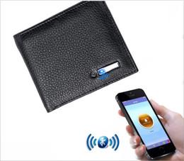 Смарт-бумажник мужчины натуральная кожа анти-потерянный умный Bluetooth кошелек держатели карт сумка для хранения денег костюм для IOS Android Tracker от Поставщики держатель для android
