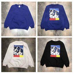 Wholesale Snow White Shirts - 18ss North snow mountains Parka Shirts Box Logo Hoodies Luxury Long Sleeve Crewneck Sweatshirts Mens Womens Blouse Loose Tee Shirts Tops