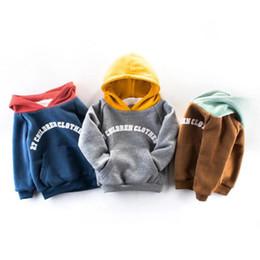 2019 spider man invierno abrigo niños Primavera, otoño e invierno nueva ropa para niños doble gruesa sudadera niños camisa con capucha camisa de los niños B041