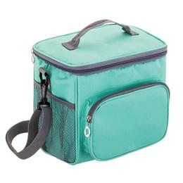Кулеры для завтрака онлайн-TFTP-взрослый обед мешок изолированный обед коробка кулер сумка для мужчин женщин, двухэтажные термостойкие охладители с регулируемым S
