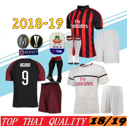 Adult kit 18 19 Milan HIGUAIN Soccer Jerseys home 2018 2019 SUSO ROMAGNOLI CUTRONE  KESSIE Milan away LOCATELLI CALHANOGLU 3rd football shirt 2f00dcedf