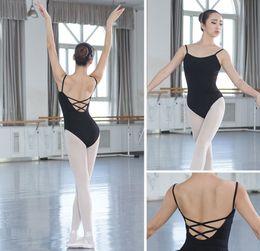 Wholesale lace vests for women - Ballet Leotard For Women High Quality Tight Cotton Dancing Leotards Adult Daily Dance Vest Ballet Practice Clothes Gymnastics