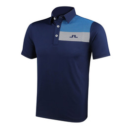 Wholesale Free Man Clothing - New fashionable Golf clothes short sleeve sport JL Golf T-shirt 4colors S-XXL size for Sports Outdoors Casual shirt Free Shipping