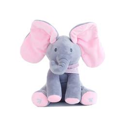 Wholesale Pink Animated - Singing Soft Toy Pink Animated Baby Elephant Plush Toy Kids