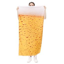 Wholesale Men Polyester Bathrobes - Water Drops Reactive Printing Beach Towel Fashion Polyester Bath Towel 3D Digital Printing Man   Woman Bathrobe
