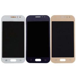 Digitalizador ace on-line-3 cores para samsung galaxy j1 ace j110 j110f j110h j110fm display lcd + touch screen digitador assembléia de vidro do sensor pode ajustar o brilho