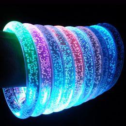 Светодиодные браслеты онлайн-LED Акриловые Блеск Свечение Вспышка светодиодный Браслет Светящиеся игрушки Палочки Светящийся Кристалл Кольцо Для Рук Браслет Потрясающий Танцевальная Вечеринка Рождественские Подарки