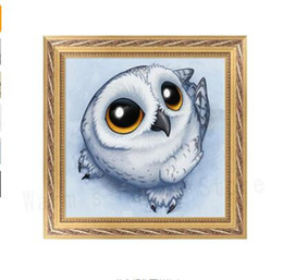 Pittura d'arte del gufo online-Pittura diamante DIY Cute Owl 5D Diamante Ricamo Pittura Punto croce Artigianato Casa Home Decorarm% 328/310