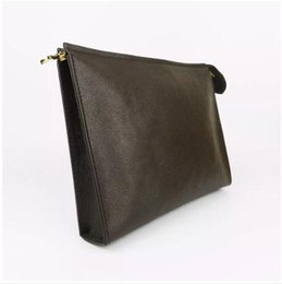 Wholesale mens designer leather handbags - Free Shipping Designer Wallet high quality Luxury mens wallet brand women wallets Genuine Leather zipper Handbags purses 47542 come with BOX