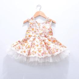 Wholesale Kids Sun Dresses - Sun Moon Kids Children's Dress Small Flower Wedding Dress Baby 2017 Summer Dresses For Girls Lolita Style Baby Girl Clothes