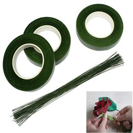 Wholesale Roll Wraps - 30M Roll Decorative Flowers Floral Tape Stem Wrap DIY Green Gardening Tape Material For Wedding Valentine Party Home Decorative HH7-928