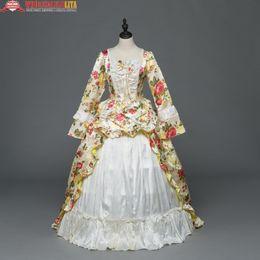 Canada Ivoire impression victorienne Southern Belle robe Rococo robe de bal victorienne Halloween Halloween Offre