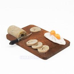 cuchillo de pan de cocina Rebajas Odoria 1:12 Miniatura Cocina Escena de desayuno Pan Huevo Harina Pastel Cuchillo Conjunto de casa de muñecas Utensilios de cocina Accesorios