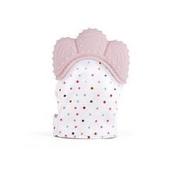 polka dot flowers wholesale UK - Baby pacifier polka dots glove teething baby silicone mitt teething massage mitten teething glove gel candy opening sound teether