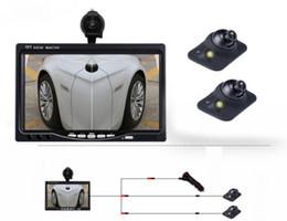 2019 carro toyota rav4 Tela de 7 Polegadas + 2 Câmeras de Visão Traseira Do Carro Levou Visão Noturna Estacionamento Driving Assistant Prevenção De Colisão
