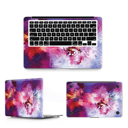 Wholesale Apple Stickers For Macbook - 3 in 1 Doodle Laptop Decal Sticker Case For Apple Macbook Air Pro 11 12 13 15 Inch Guard Protective Cover Skin Wholesale