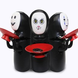Wholesale Plastic Toy Banks - Spirited Away No face Fun Electric Music Piggy Bank Automatic Coins Collection No Face Coin Collector Model Figure Doll Novelty Fidget Toys