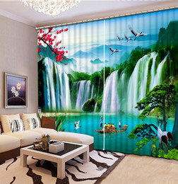 Wholesale Door Hotel - custom modern living room curtains Tiger Falls landscape curtains decorative beads curtains 3d photo home goods curtain