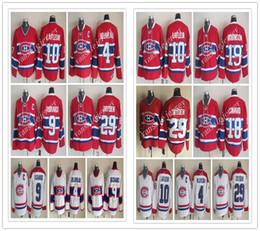 Wholesale Guys Nylon - 2018 Popular Stitched Jersey 10 Guy Lafleur 4 Jean Beliveau 9 Maurice Richard 29 Ken Dryden 18 Denis Savard 19 LarryRobinson Hockey Jerseys