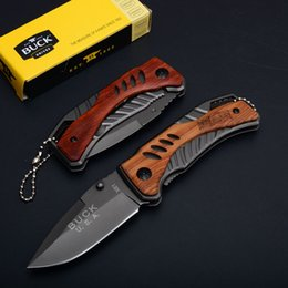 Wholesale Pocket Knives Buck - Outdoor Tool Knives Buck X61 Little Knife EDC Folding Pocket Keychain Knife 440C Blade Steel Handle Hiking Knife D750Q