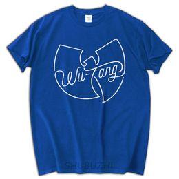 maglietta nera di stile di estate di estate delle magliette degli uomini di t-shirt degli uomini superiori di marca della cima di wu da